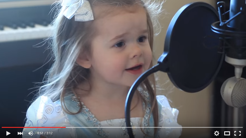 3 Year Old Claire Will Steal Your Heart With Her FULL Rendition Of Ariel's 'Part of Your World' - WATCH