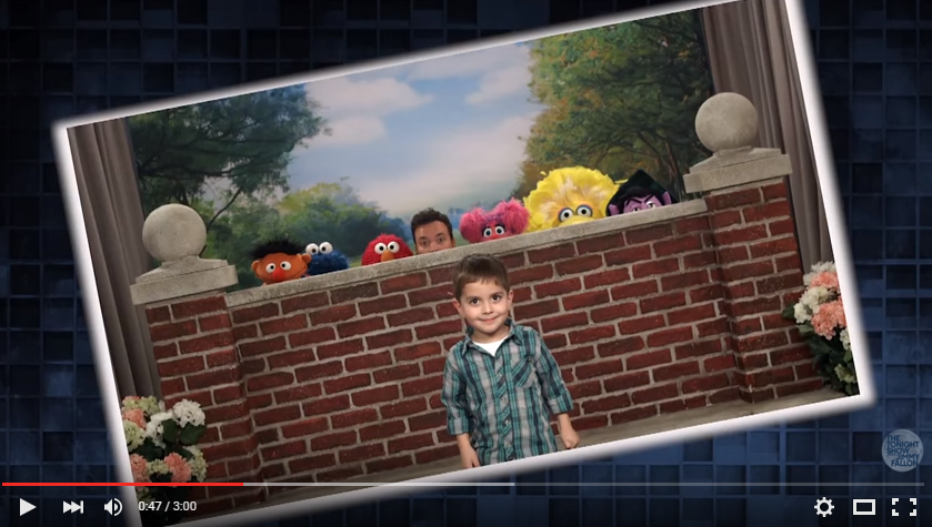 Jimmy Fallon and The Cast of Sesame Street Photobomb Adorable Families - WATCH