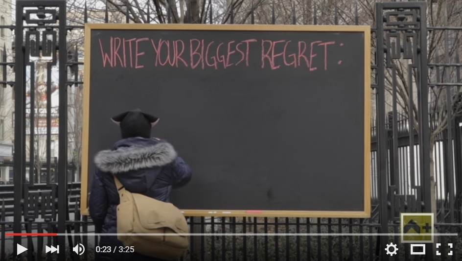 What's Your Biggest Regret? A Chalkboard in New York Will Give You The Feels As Strangers Write Down Their Regrets - WATCH