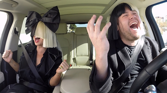 JAMES CORDEN is at it AGAIN... CARPOOL KARAOKE with... SIA! (WATCH)