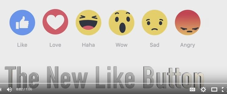"""It's official! Facebook has replaced the """"Like"""" button with six emojis you can choose from."""