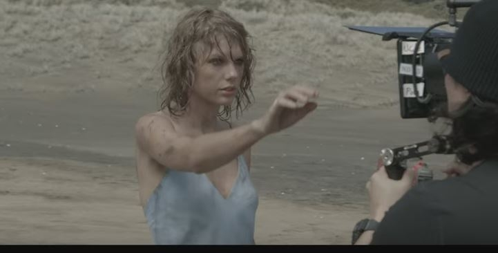 Taylor Swift 'Out Of The Woods' - the making of the music video.