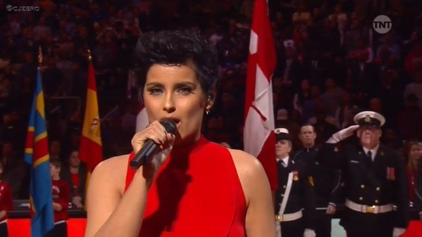 So NELLY FURTADO's rendition of Canadian National Anthem didn't go over so well!  (WATCH)