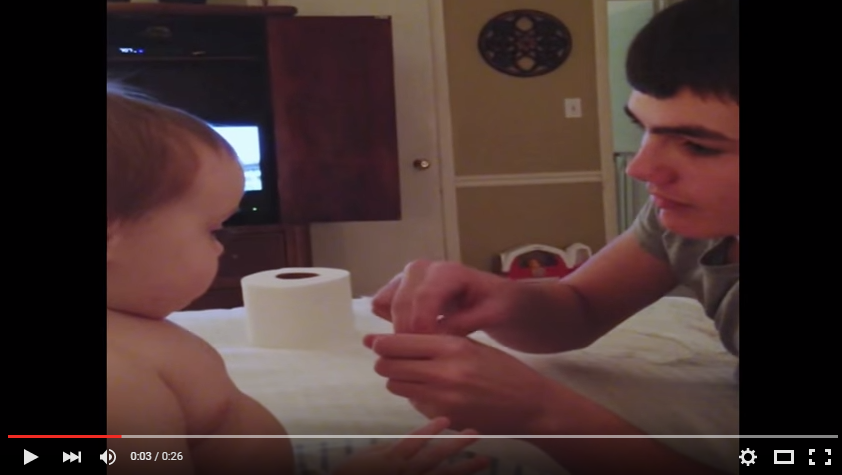 Baby Has The Best Reaction Ever When Older Brother Does A Magic Trick - WATCH