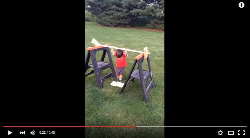 Dad Puts Together A Backyard American Ninja Warrior Course For His Adorable Toddler, Who Crushes It! - WATCH