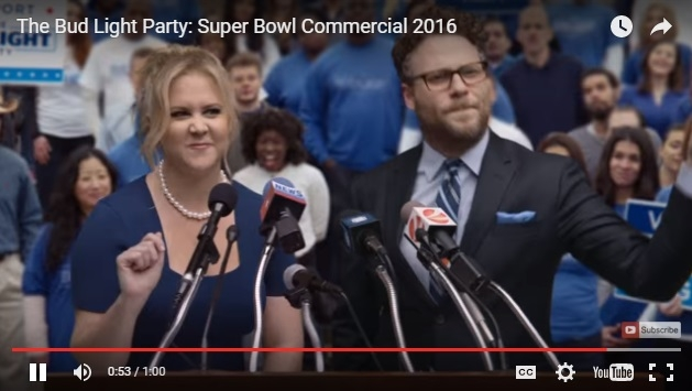Amy Schumer and Seth Rogen Have The Best Superbowl Commercial Yet!