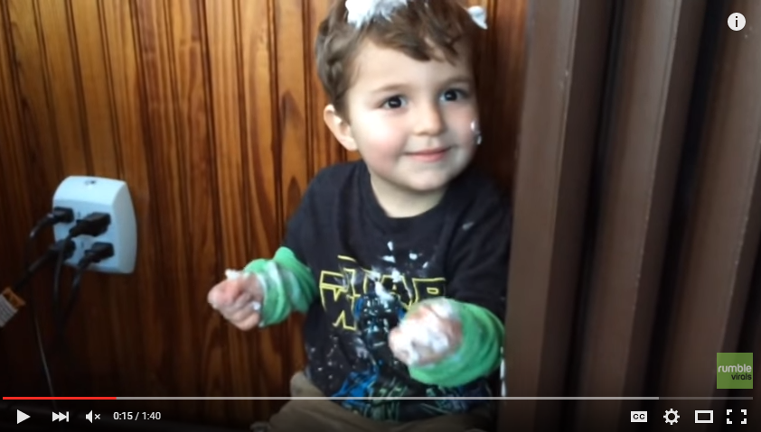 Toddler Has Most EPIC Answer To Why He Covered The House In Shaving Cream - WATCH