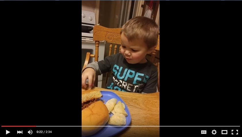 "Youngster Is Appalled By The Fact That There is ""Poop"" On His Sandwich - WATCH"