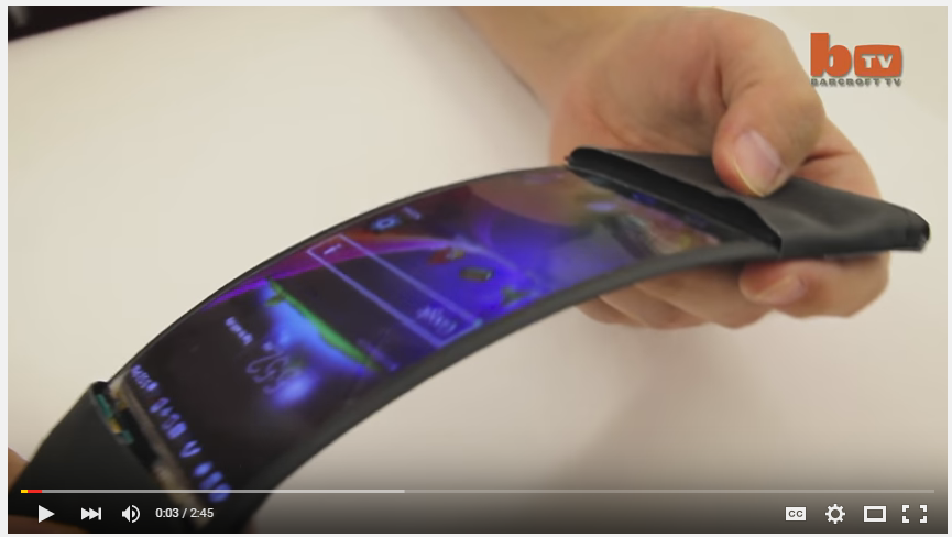 LOOK!! - A bendable smartphone!!!