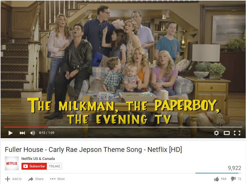 FULLER HOUSE theme song - Carly Rae Jepsen - WATCH