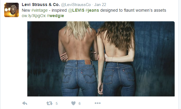 Introducing...the WEDGIE jean by Levi's