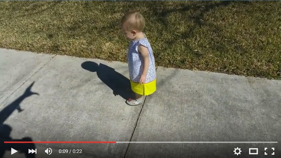 Dad Tricks Daughter With Shadow Monster, Then 'Bravely' Saves Her LOL - WATCH