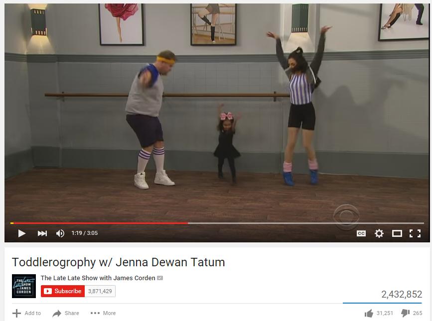 ICYMI: James Corden/Jenna Dewan Tatum do Toddlerography - ah-mazing!