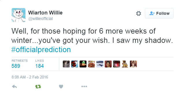 Wiarton Willie says 6 more weeks of winter - this Meteorologist says he's wrong.