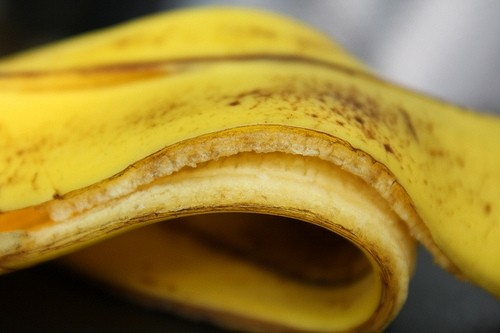 The latest dumb thing on the interwebs?  The Banana Peel Challenge