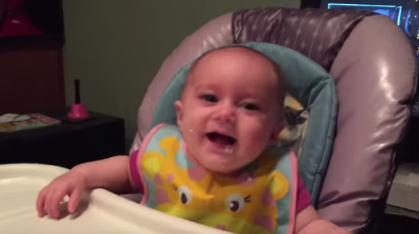 WATCH:Baby can't stop laughing at her dad and it's adorable