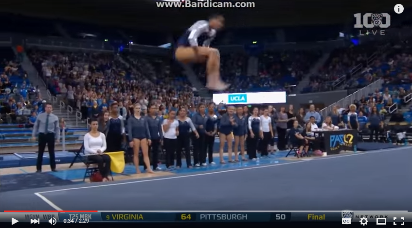 UCLA Gymnast Stuns Crowd As She Whips And Nae Nae's A Flawless Routine - WATCH
