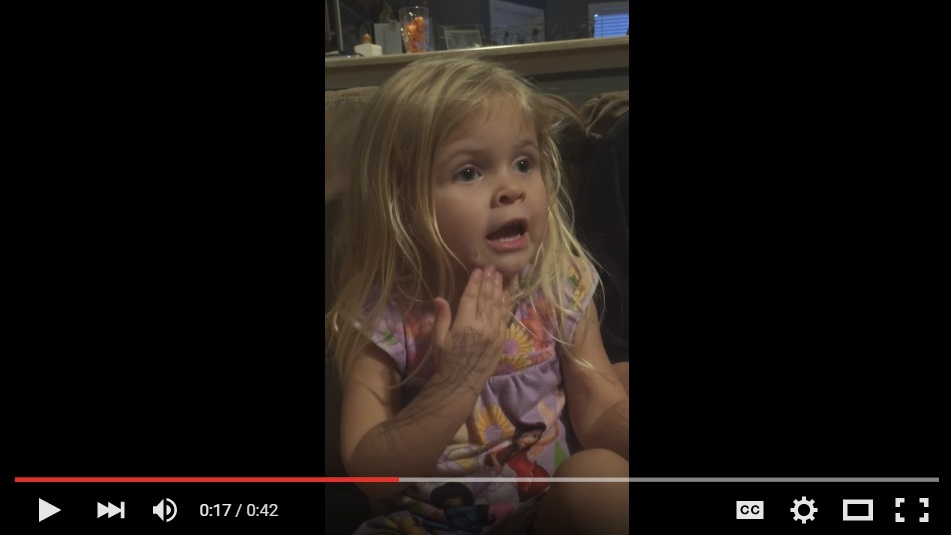 Adorable Little Girl Is Having The Cutest Trouble Trying To Say How Much She Loves 'Smucker's Peanut Butter' - WATCH