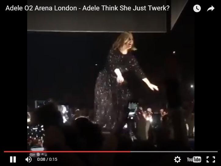 Adele TWERKS On Stage In London!