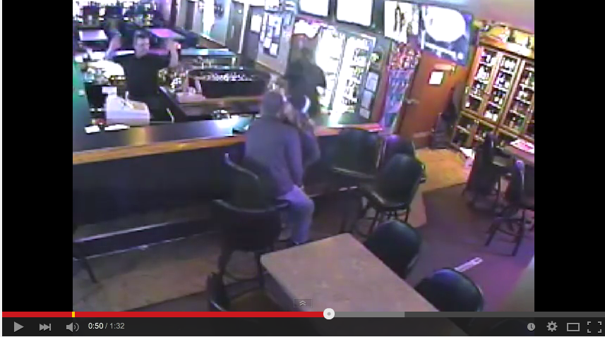 Proof That Love Is Blind, As Couple Making Out In Bar Completely Miss Robbery - WATCH