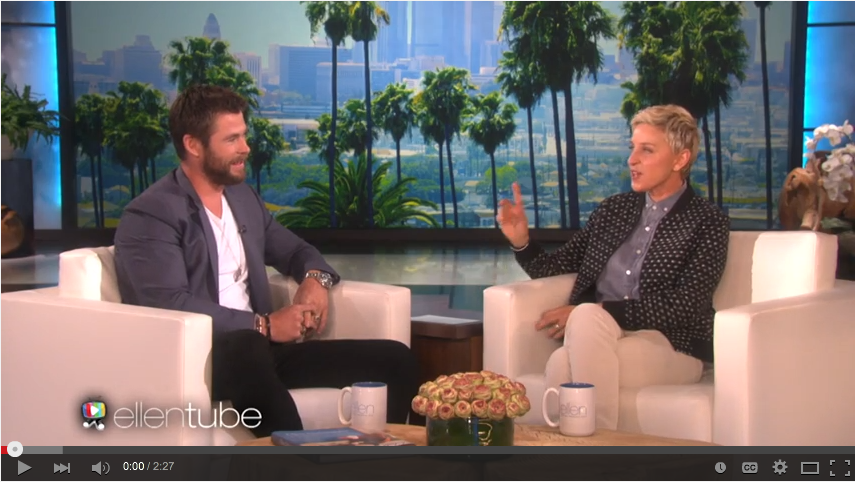 Chris Hemsworth Is The Best Dad Ever When He Has Hilarious Conversation With Ellen About His Daughter - WATCH