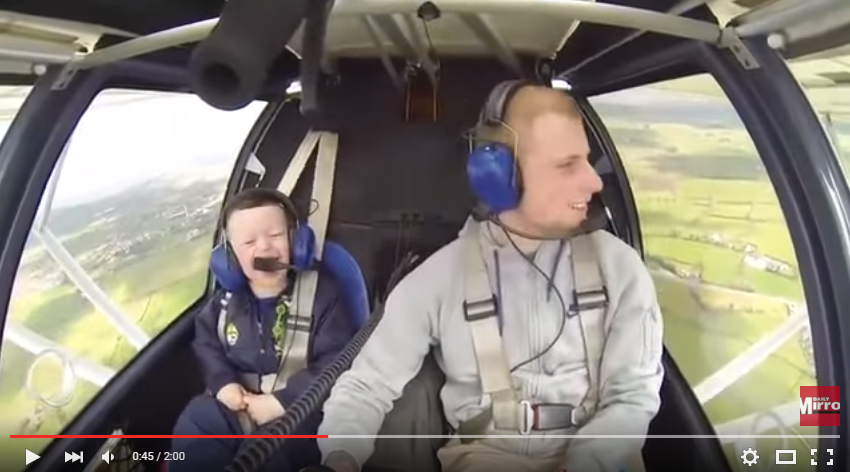 Pilot Takes His Disabled 5 Year Old Brother Flying For The First Time And His Wonder and Excitement Is Contagious - WATCH