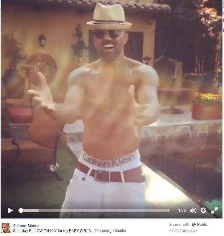 Shemar Moore, Shirtless, Lip-Syncing 'Pillowtalk' ... You're Welcome - WATCH