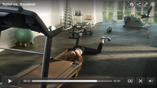 Wanna See Taylor Swift Falling Off A Treadmill While Rapping Drake? You Know You Wanna - WATCH