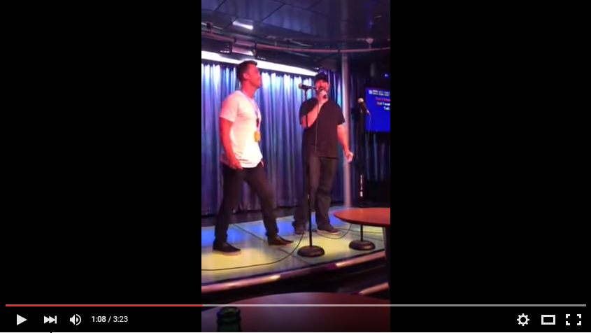 Lance Bass And Joey Fatone Sing A Little BSB During Some Karaoke On A Cruise Ship - WATCH