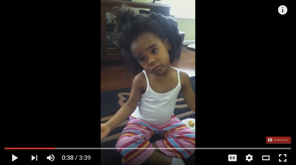 Little Girls Tries To Sweet Talk Her Way Out Of Trouble After Eating A Donut - WATCH