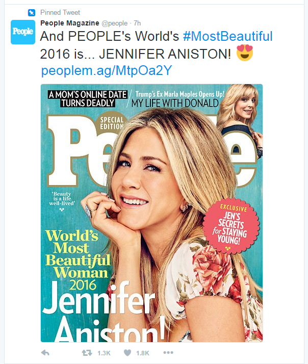 And the World's Most Beautiful Woman for 2016 is...