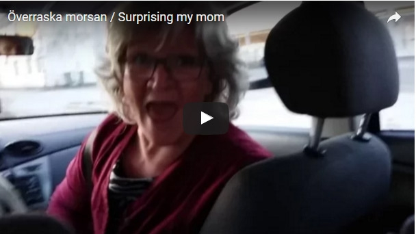 Kid surprises mom after travelling for a year by hitching a ride in her car.