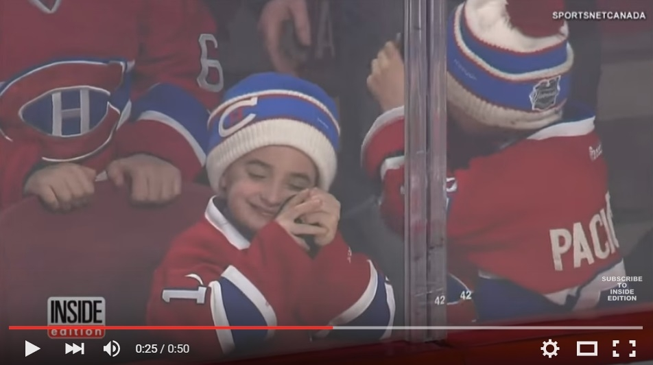 Youngster Hugging A Game Hockey Puck Will Melt Your Little  Ice Heart - WATCH