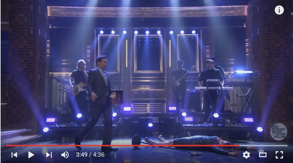 ICYMI: Meghan Trainor Totally Fell And Ate It On Jimmy Fallon - WATCH