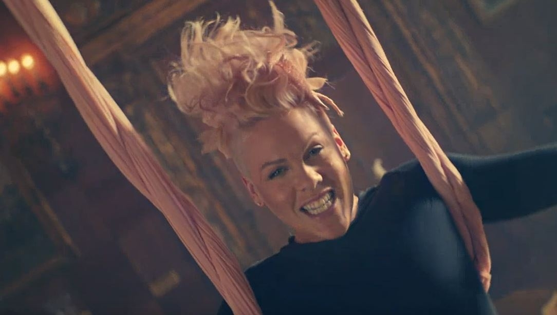 "P!nk's hubby & 4 year old daughter appear in her new video for ""Just Like Fire"". WATCH:"