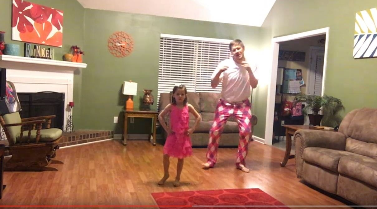 "Daddy/daughter dance to Justin Timberlake ""Can't Stop The Feeling""! (Can't wait to try this with Madison)"
