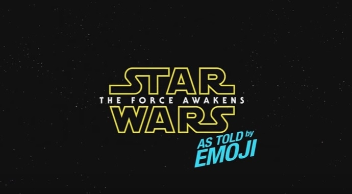 Star Wars:The Force Awakens as told by Emoji