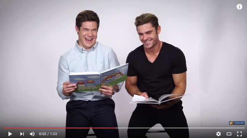 Zac Efron and Adam Devine Read An Inappropriately Accurate Kids Book To Promote New Movie - WATCH