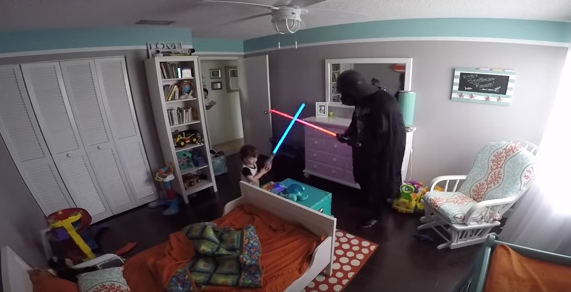 WATCH:A dad dressed as Darth Vader to wake up his son