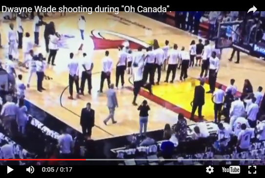 Canadians are furious with Dwyane Wade for practicing during O'Canada-WATCH