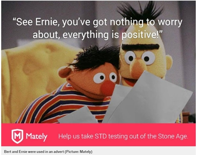 Sesame Street Sends Cease And Desist After Bert And Ernie Become Face Of STD Testing Kit