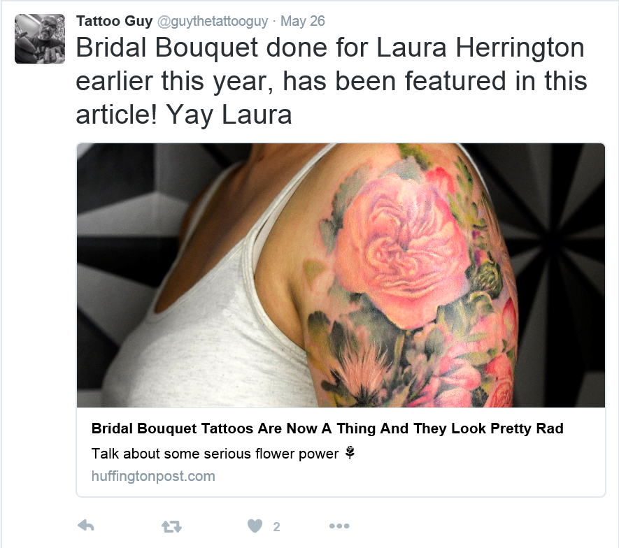 Bridal Bouquet Tattoos - they're a thing now...
