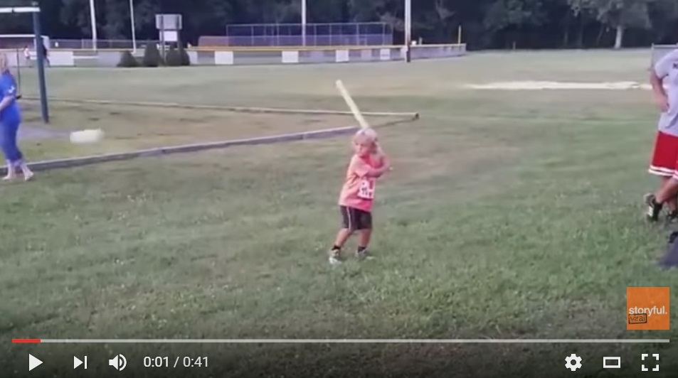 4 Year Old Could Out Swing Josh Donaldson With This Epic Crushing Of The Ball - WATCH