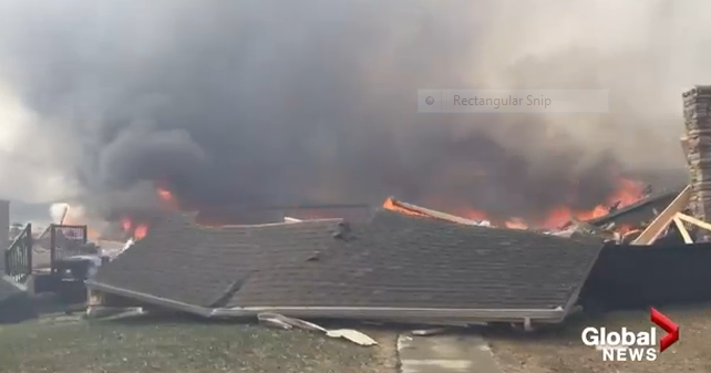 This is what it looked like fleeing the Fort McMurray fires - WATCH