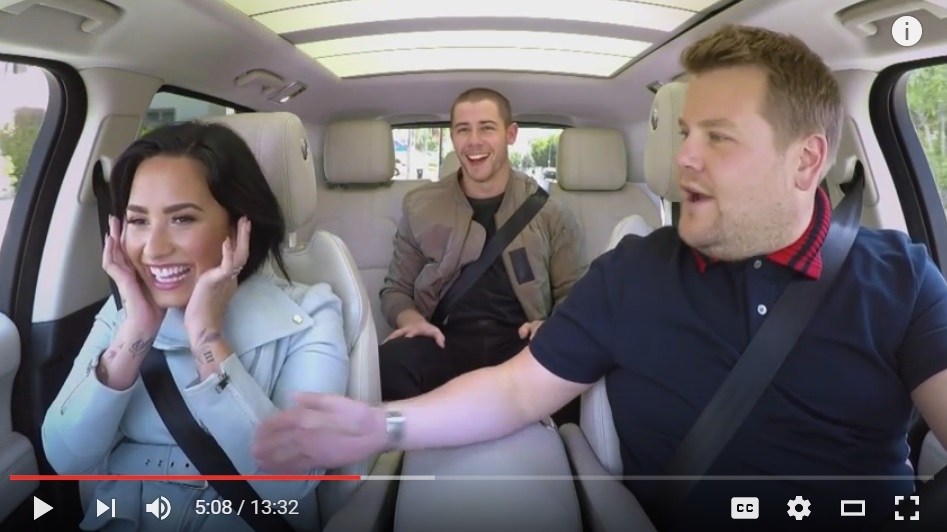 Demi Lovato And Nick Jonas Join James Corden In Another Hilarious Carpool Karaoke - WATCH