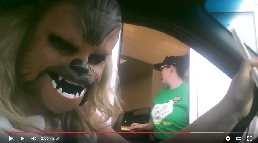 I Took A Lesson From Candace & Chewbacca'd Through The Tim Horton's Drive Thru - WATCH