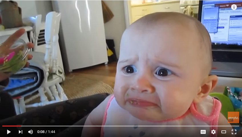 Baby Is Completely Horrified During First Tasting Of Avocado - WATCH