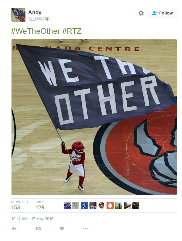 #WeTheOther trending ahead of Raptors game tonight...here's why...