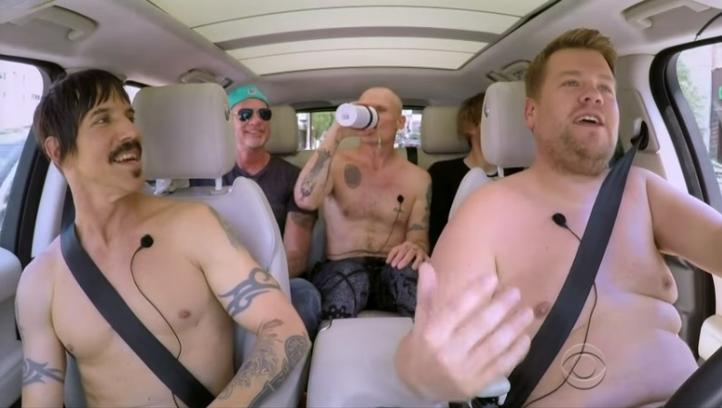 James Corden & The Red Hot Chili Peppers Do HALF NAKED Carpool Karaoke!