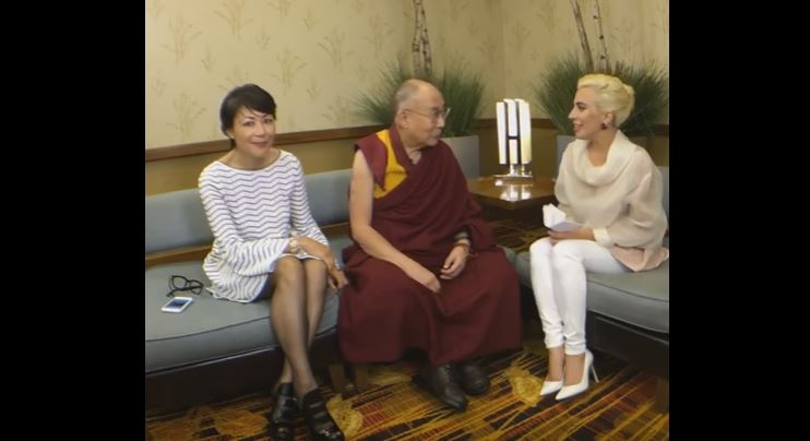 Lady Gaga & Dalai Lama talk kindness.